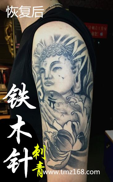 佛祖莲花纹身手稿