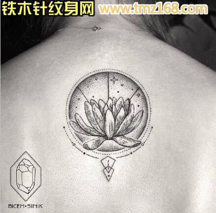 传统嘎巴拉莲花纹身手稿图片由纹图片