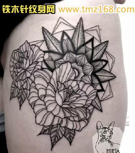 描线稿般若精品纹身手稿定制武汉纹身铁木针刺青江图片