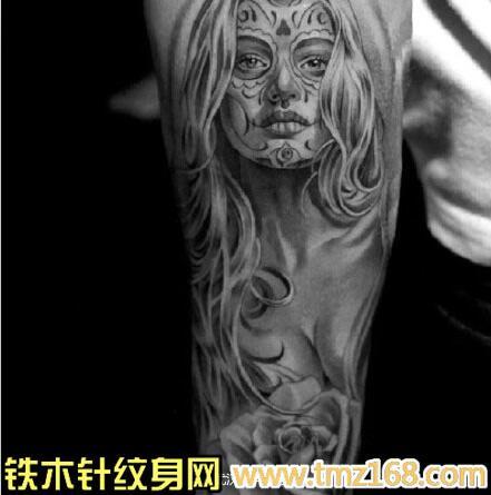 骷髅l纹身手稿分享展示